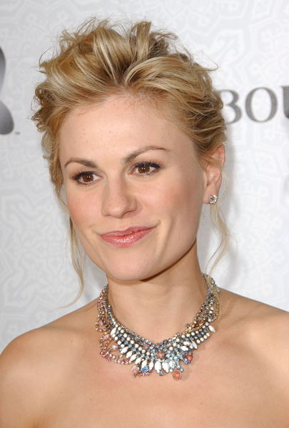 "Full View ""True Blood"" Star Anna Paquin's Wedding Hairstyle: A Blonde,"