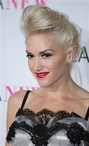 Gwen Stefani can always be counted on to wear red lipstick.