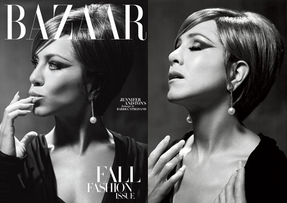 Jennifer Aniston Transforms Into Barbra Streisand Hair