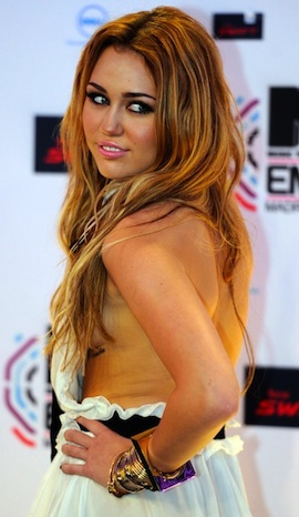 A Little Too Much Information - Miley Cyrus' Wardrobe Malfunction in Madrid, Spain