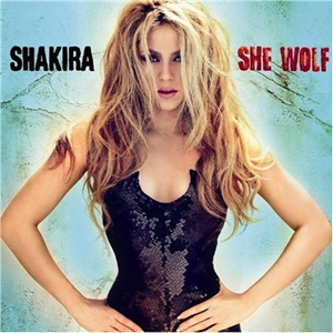 Shakira and the cover of ther latest album - sans dreadlocks