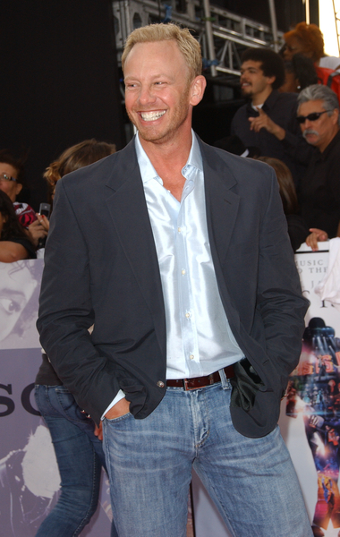Why is Ian Ziering smiling?  Tight pores!