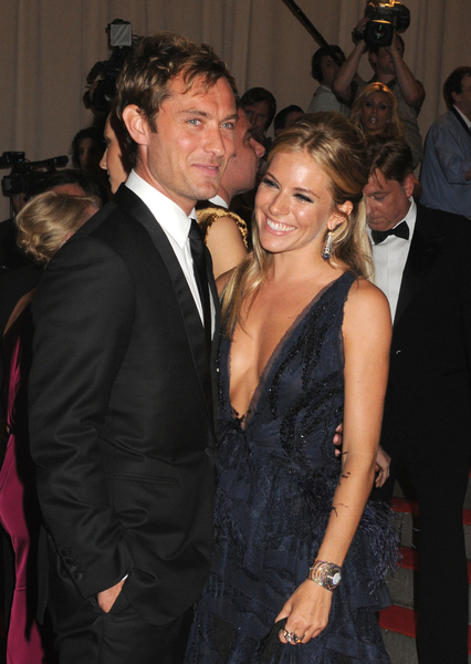 Sienna Miller and Jude Law at the