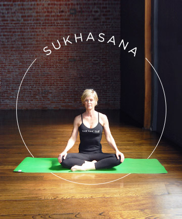 yoga pose no 1 sukhasana easy pose 7 yoga poses for a