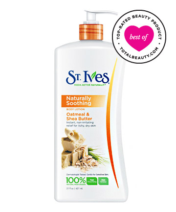 Best Body Lotion No. 13: St. Ives Nourish & Soothe Oatmeal & Shea Butter Body Lotion, $5.99
