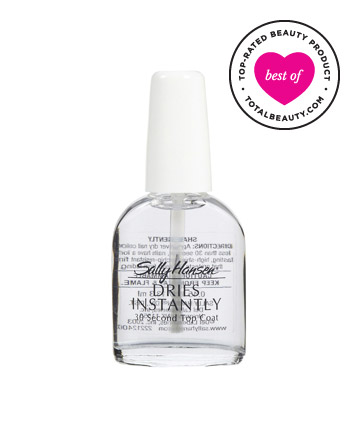 Best Drugstore Nail Polish No. 1: Sally Hansen Dries Instantly 30 Second Top Coat, $5.99