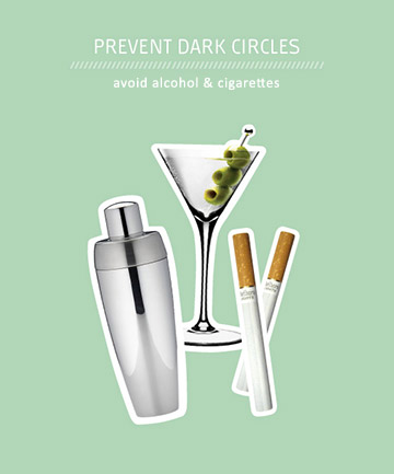 Blame Under Eye Circles on Alcohol (and Cigs)
