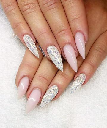 Marble Nails Acrylic Burgundy