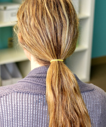 How to Do a Fishtail Braid, Step 1: Create a Ponytail