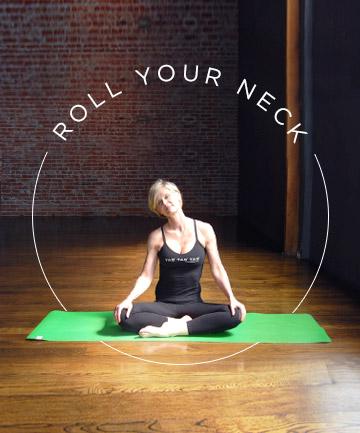 yoga pose no 2 neck rolls  7 yoga poses for a more