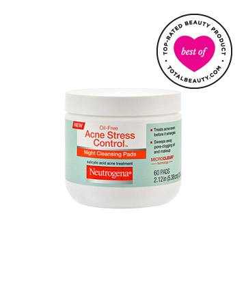 Best Drugstore Acne Product No. 8: Neutrogena Oil-Free Acne Stress Control Night Cleansing Pads, $7.49