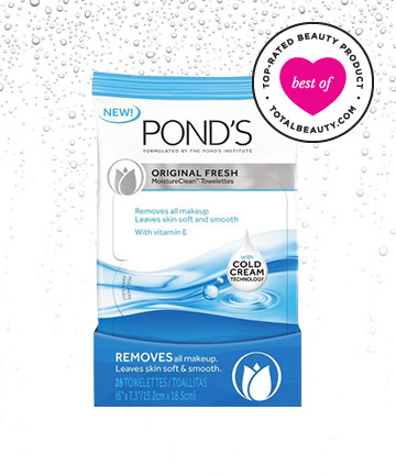 Best Face Wipe No. 8: Pond's Original Fresh Wet Cleansing Towelettes, $5.99