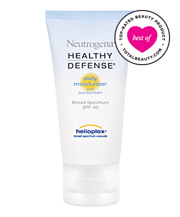 Best Sunscreen for Your Face No. 12: Neutrogena Healthy Defense Daily Moisturizer With Sunscreen Broad Spectrum SPF 30, $13.99