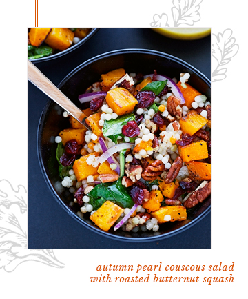 Pearl Couscous Salad With Roasted Butternut Squash