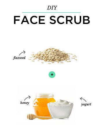 DIY Face Scrub: Oatmeal + Honey + Yogurt