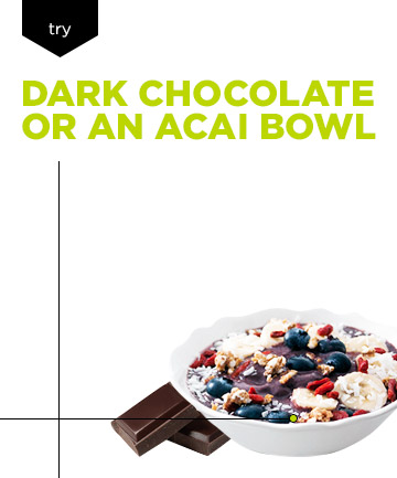 Healthy Skin Diet: Eat Dark Chocolate or an Acai Bowl Instead