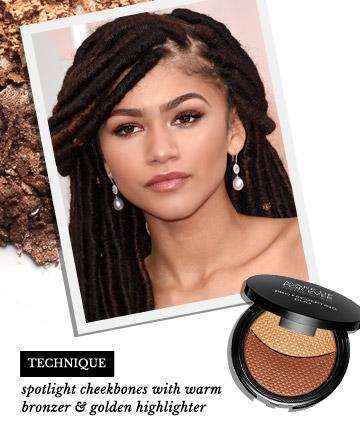 how to put on bronzer on dark skin