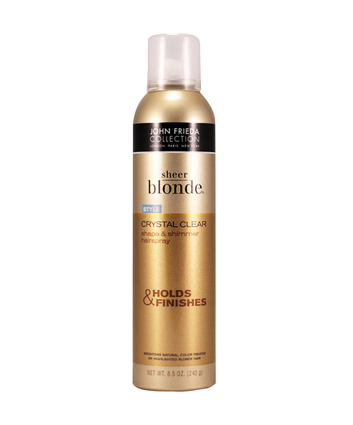 No. 4: John Frieda Sheer Blonde Crystal Clear Hairspray, $5.99