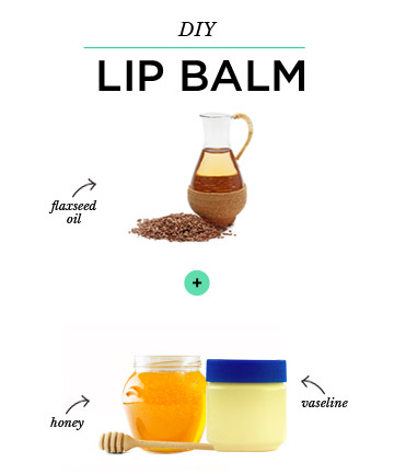 DIY Lip Balm: Flaxseed Oil + Vaseline + Honey