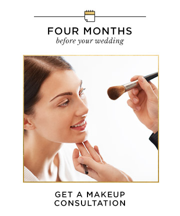 Four Months Before Your Wedding: Get a Makeup Consultation