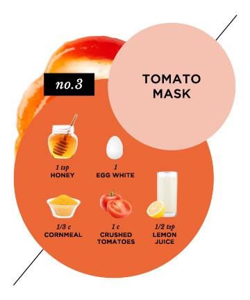 Homemade Face Mask No 13 Calming Tomato Mask 15 Homemade