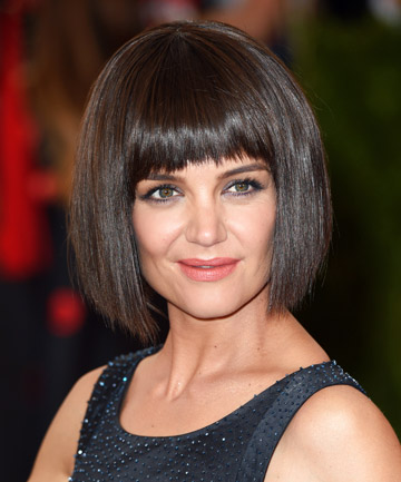 No 21 katie holmes bob haircut with bangs the 24 most iconic 21 katie holmes bob haircut with bangs winobraniefo Image collections