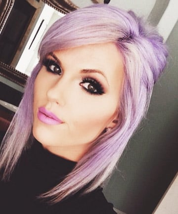Lavender Hair With Brown Eyes