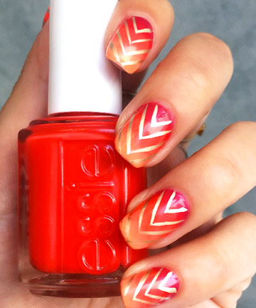 Gold Chevrons and Sunset Shades
