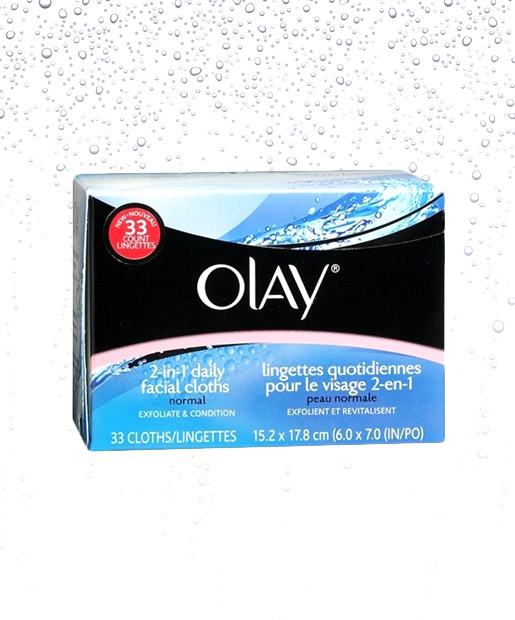 No. 4: Olay 2-in-1 Daily Facial Cloths -- Normal Skin, $6.09