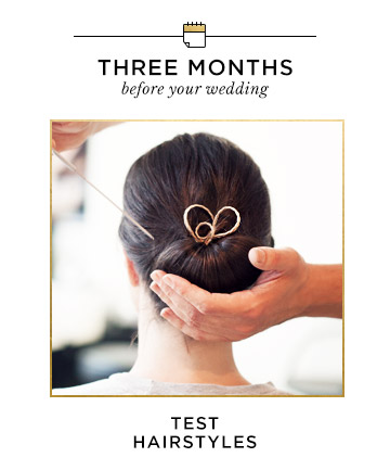 Three Months Before Your Wedding: Test Hairstyles , Your ...