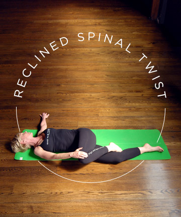 yoga pose no 6 reclined spinal twist 7 yoga poses for a