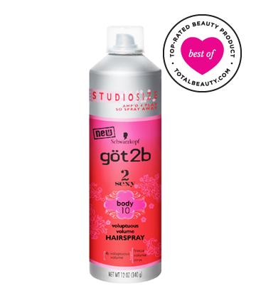 Best Drugstore Hairspray No. 9: Got2B 2Sexy Voluptuous Volume Hairspray, $6.99