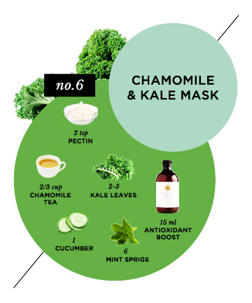 The Redness-Reducing Chamomile & Kale Face Mask