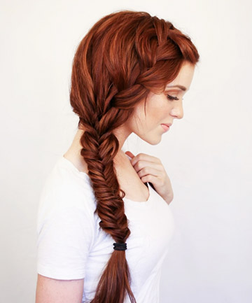French + Fishtail Side Braid