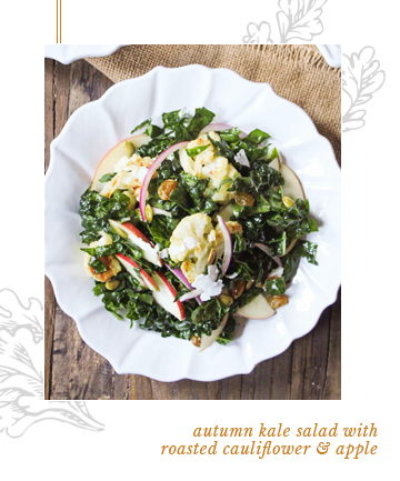 Autumn Kale Salad With Roasted Cauliflower and Apple