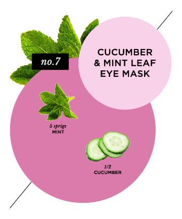 Cooling Cucumber and Mint Leaf Eye Mask