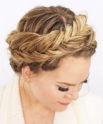 Fishtail Crown Braid, 17 Impossibly Pretty Braids You Need Now