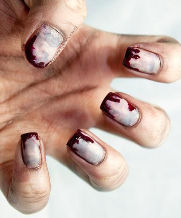 Zombie nails 19 amazing diy halloween nail art ideas page 19 zombie nails prinsesfo Choice Image