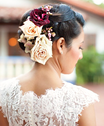 Spanish Rose Wedding Hairstyle This gorgeous bridal updo is more ...