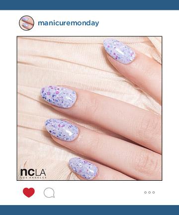 Mani of the Week: NCLA's Glittery Tips