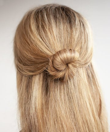 The Office Half Bun The It Girl Hairstyle That Takes