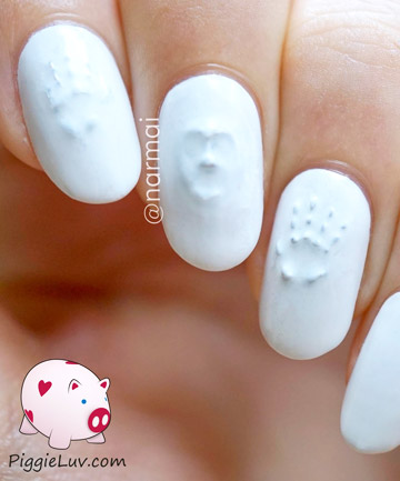 3-D Ghost Face Nails