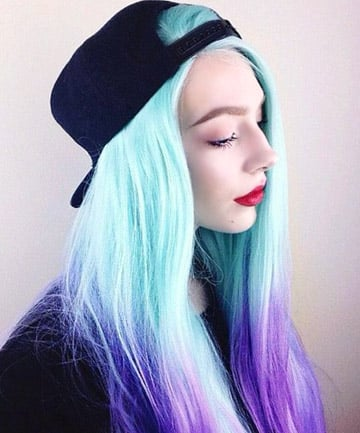 Minty Way 17 Galaxy Hair Ideas That Bend The Space Time