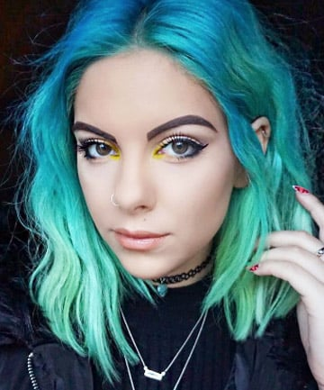 Turquoise Hair With Brown Eyes