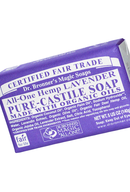 No. 6: Dr. Bronner's Classic Fair Trade Bar Soap, $4.49