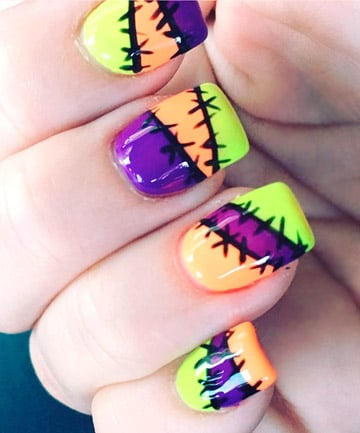 Funky Frankenstein Nails