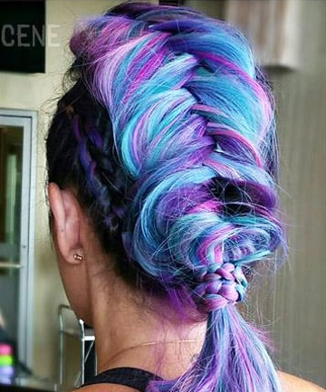 Alien Unicorn This Jaw Dropping Braid Shows The Versatility Of Vivid Highlighted Hair