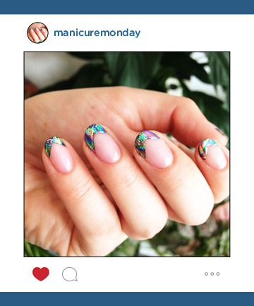 Mani of the Week: Trophy Wife Nail Salon's Oil Slick Tips