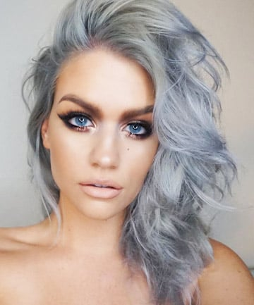 Gray Hair With Blue Eyes
