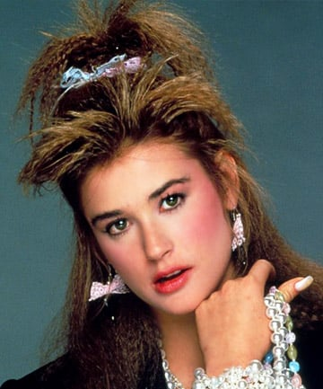 Ride The Wave As A Young Demi Moore Demonstrates Crimped Hair Didn T Cramp Anyone S Style Back In 80s